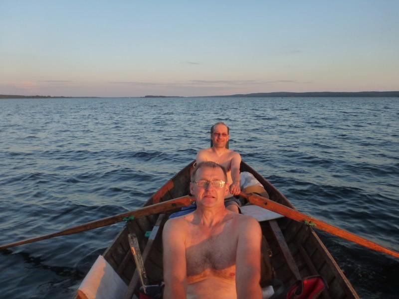 Hannu ja Risto harjoittelee regattaa varten