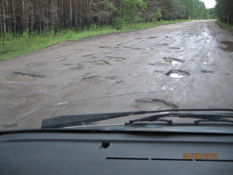 Poventsa - Karhumäki väliseltä maantieltä. Google antama matka ja ajoaika: 22km 17min = 78km/h. Meidän keskinopeus oli ehkä noin 35 km/h!