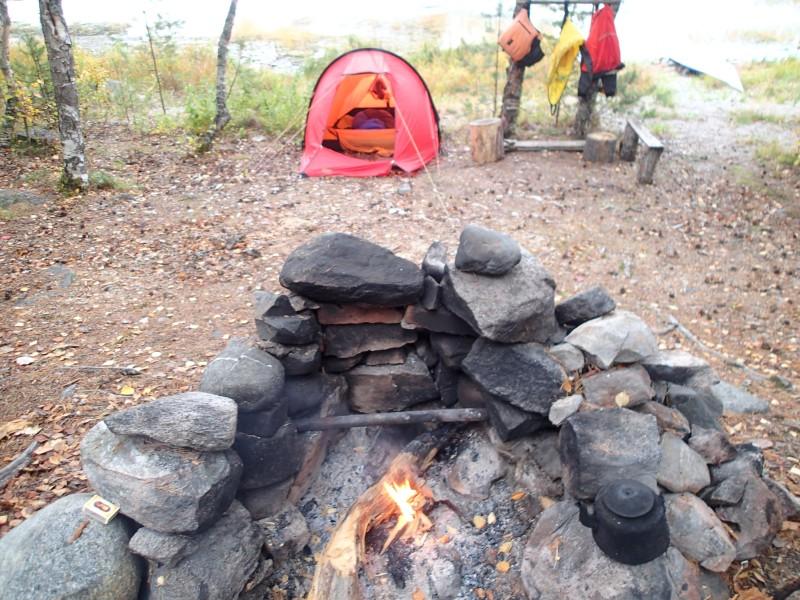 Leiri Kujasilla ja Marin teltta