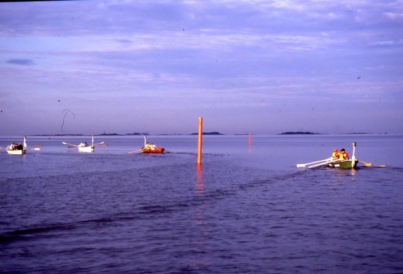 Ensimmäistä kertaa avomerelle kohti Harmajaa.